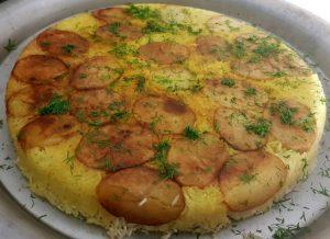 אורז פרסי עם תפוחי אדמה מתכון