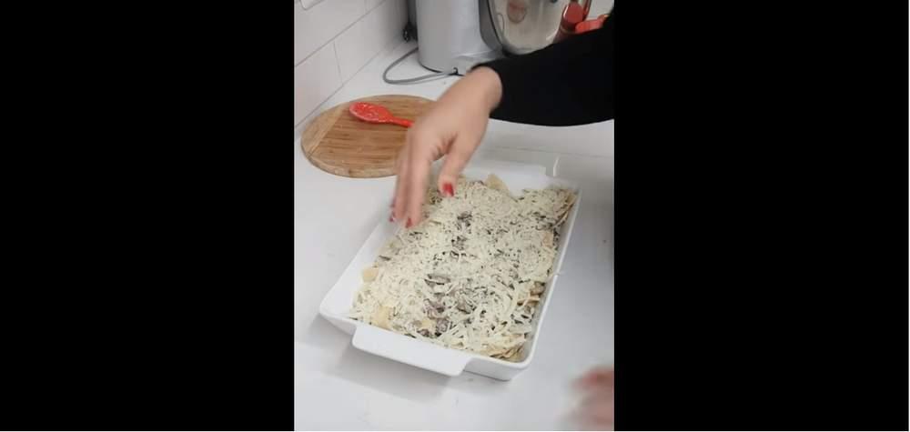 מאפה רביולי עם פטריות