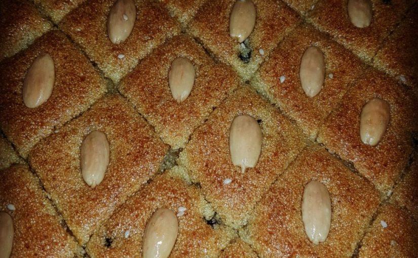 עוגת סולת בסבוסה
