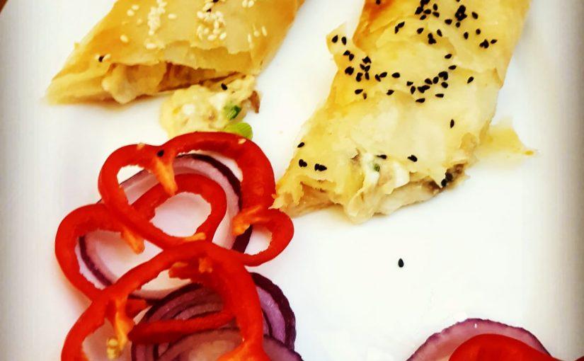 בצק פילו עם גבינה ופטריות מתכון של תומר תומס