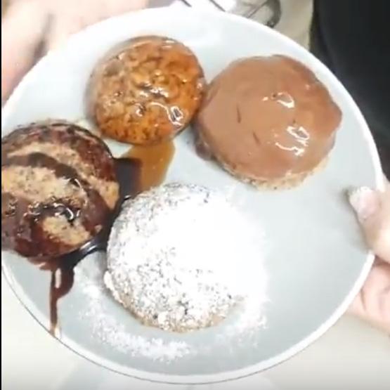 מאפינס חלבה שוקולד ואגוזים