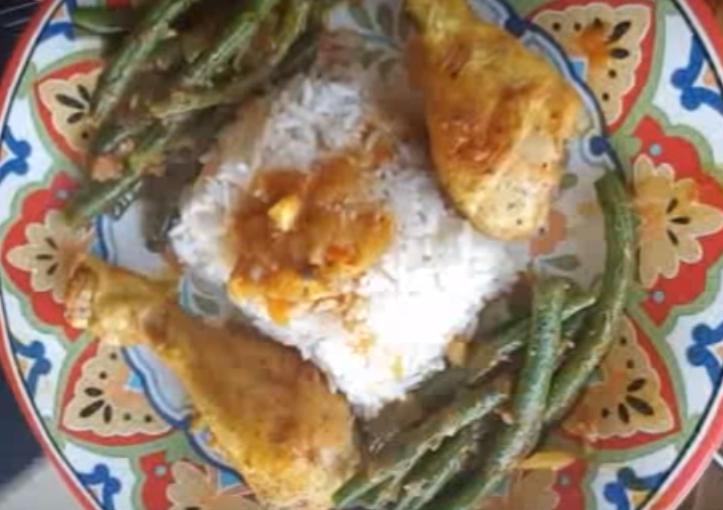 עוף עם שעועית ירוקה ואורז מתכון של תומר תומס