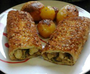 טורטיות במילוי חזה עוף ופטריות