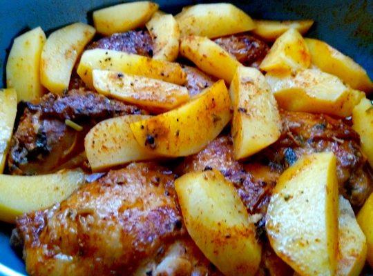 עוף עם תפוח אדמה מתכון