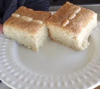 עוגת סולת טורקית חלבית