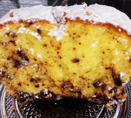 עוגת תפוזים קוקוס בחושה