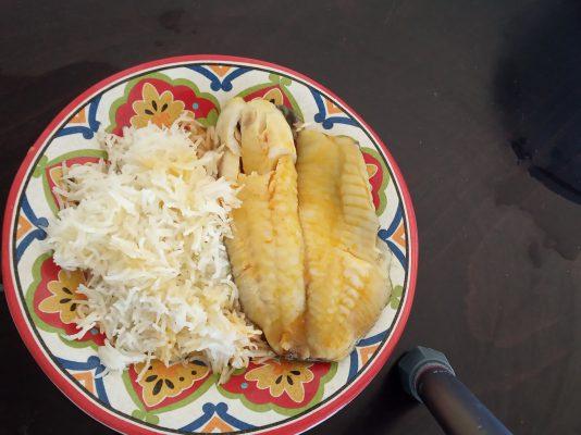 דג אמנון ואורז בסמטי בסיר אחד
