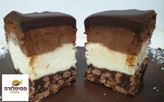 עוגת מוס שוקולד ללא אפיה