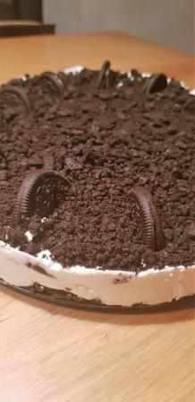 עוגת אוראו וגבינה