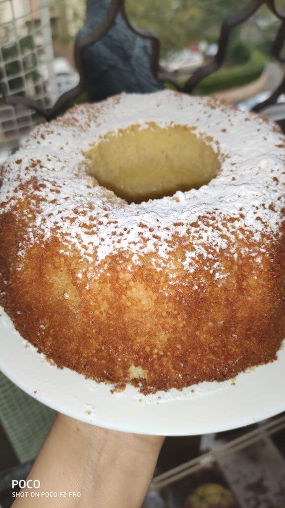 עוגת תפוז קוקוס גבוהה