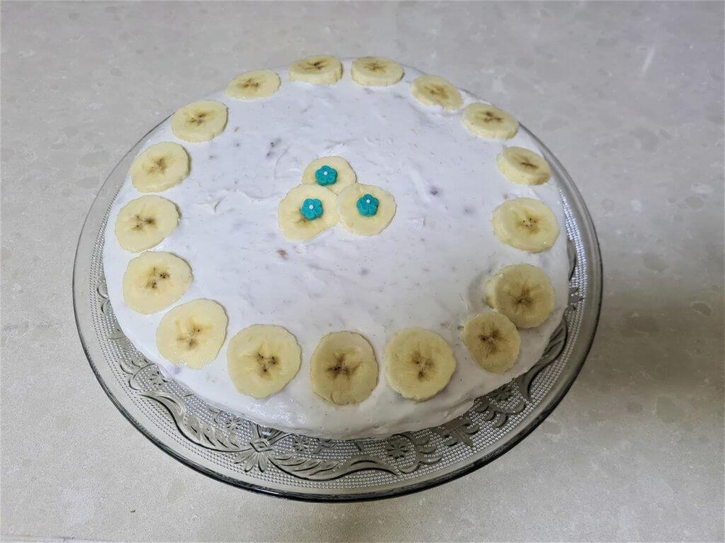 עוגת בננה ללא אפיה