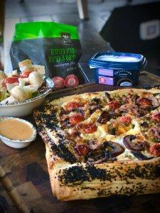 מאפה גבינה עם פטריות ובצל